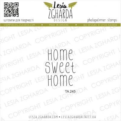 Tampon transparent Lesia Zgharda - Home Sweet Home