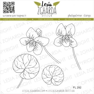 Tampons transparent Lesia Zgharda - Violet Flowers