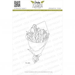 Tampons transparent Lesia Zgharda - Bouquet of tulips