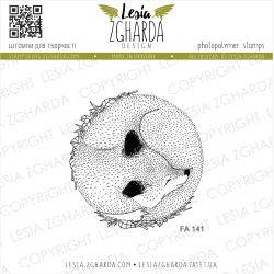 Tampons transparent Lesia Zgharda - Sleeping Fox