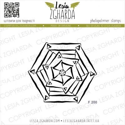 Tampons transparent Lesia Zgharda - Geometric Rosette
