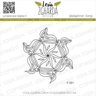Tampons transparent Lesia Zgharda - Marine Geometric Rosette