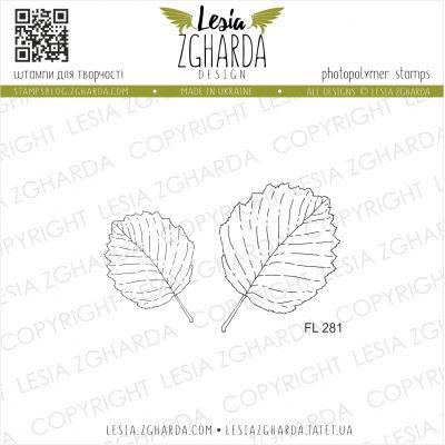 Tampons transparent Lesia Zgharda - Leaves of alder (outline)