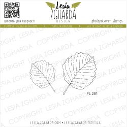 Tampons transparent Lesia Zgharda - Leaves of alder (outline)