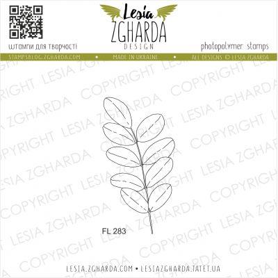 Tampons transparent Lesia Zgharda - Leaf of acacia