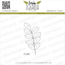 Tampons transparent Lesia Zgharda - Leaf of acacia