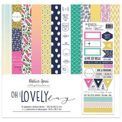 Pack 30x30 - Béatrice Garni Illustration - Oh Lovely Day