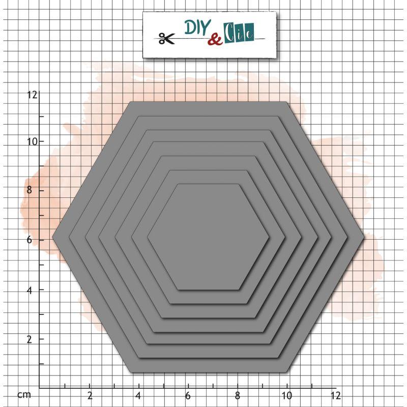 Dies DIY&Cie - Col.16 - Basik : Hexagones