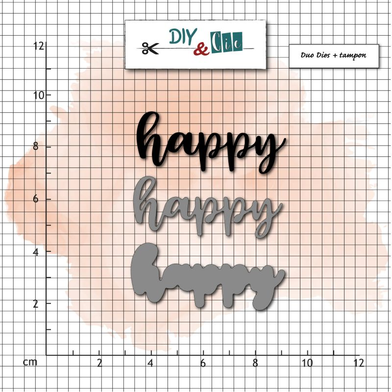 Combo Tampon + Dies DIY&Cie - Col.16 - Happy