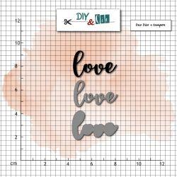 Combo Tampon + Dies DIY&Cie - Col.16 - Love
