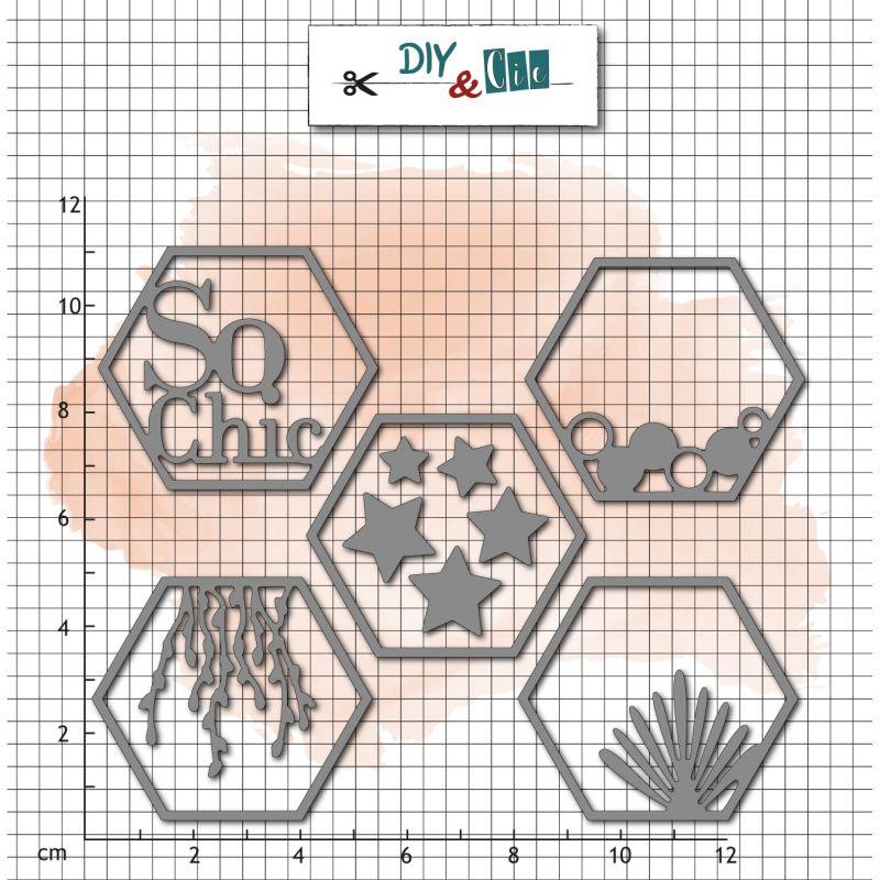 Dies DIY&Cie - Col.16 - Hexagones So Chic