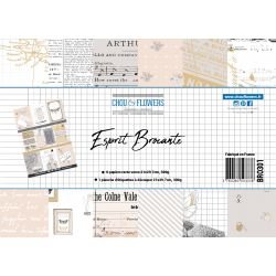 Pack de papiers A4 - Chou & Flowers - Esprit Brocante