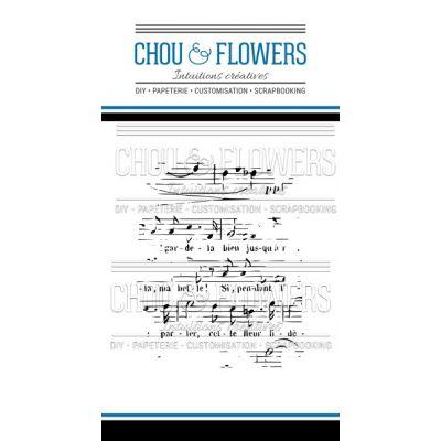 Tampons transparents Chou & Flowers - Esprit Brocante - Musique