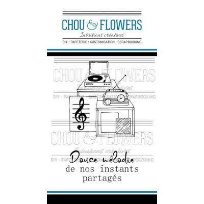 Tampons transparents Chou & Flowers - Esprit Brocante - Douce Mélodie