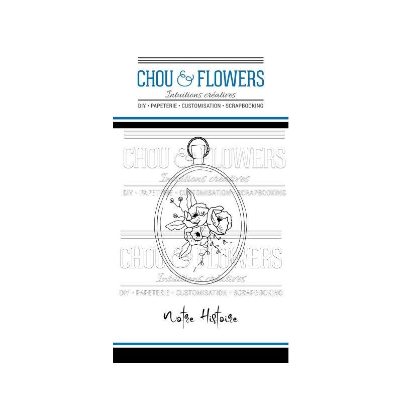 Tampons transparents Chou & Flowers - Esprit Brocante - Notre Histoire