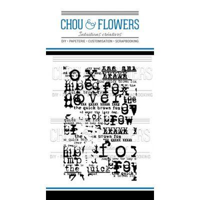 Tampons transparents Chou & Flowers - Mon Petit Côté - Fond scrap