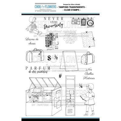 Tampons transparents Chou & Flowers - Esprit Brocante - Bouquiniste