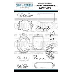 Tampons transparents Chou & Flowers - Esprit Brocante - Médaillon
