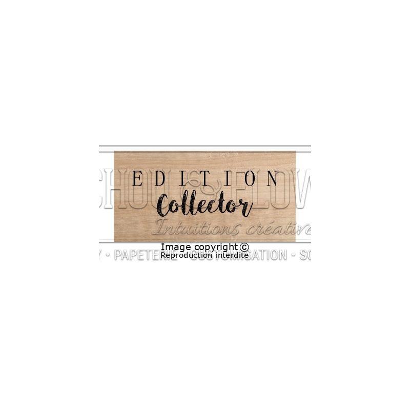 Tampon bois Chou & Flowers - Esprit Brocante - Édition Collector