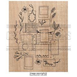 Tampon bois Chou & Flowers - Esprit Brocante - Mes petits papiers