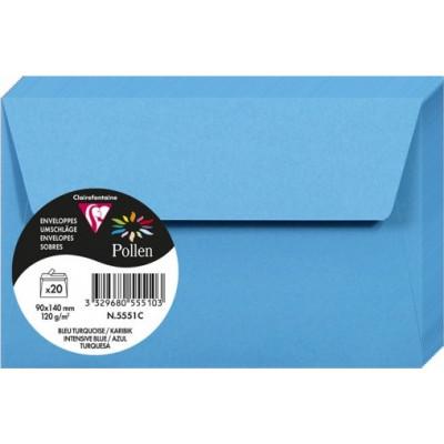 Enveloppes Pollen 90x140 - Bleu Turquoise