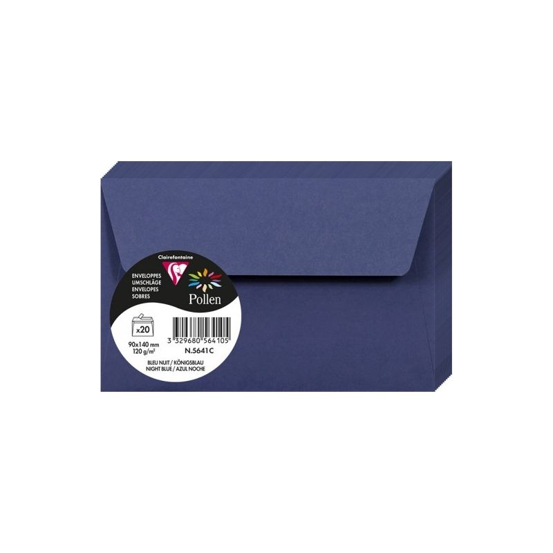 Enveloppes Pollen 90x140 - Bleu Nuit
