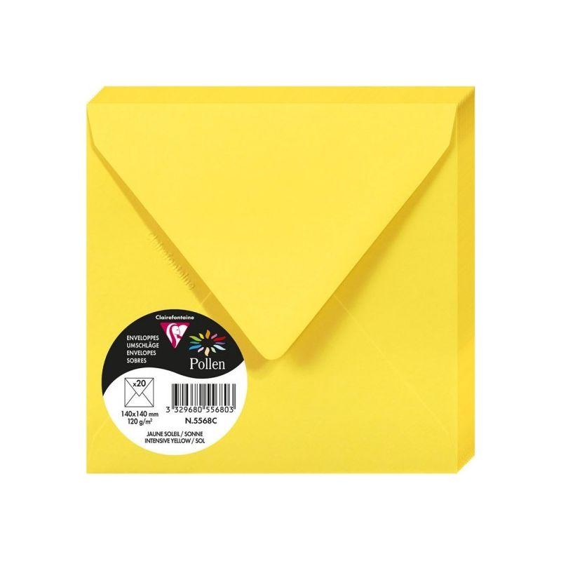 Enveloppes Pollen 140x140 - Jaune Soleil