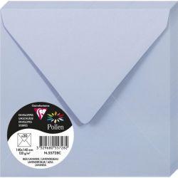 Enveloppes Pollen 140x140 - Bleu Lavande