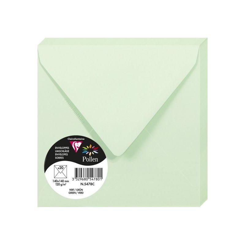 Enveloppes Pollen 140x140 - Vert