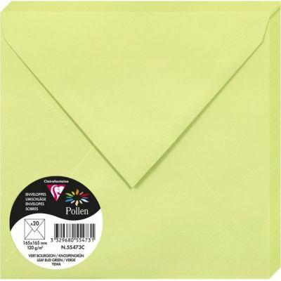 Enveloppes Pollen 165x165 - Vert bourgeon