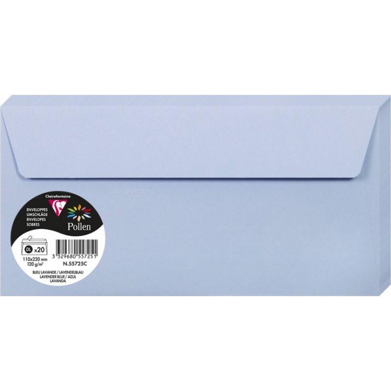 Enveloppes Pollen 110x220 - Bleu Lavande