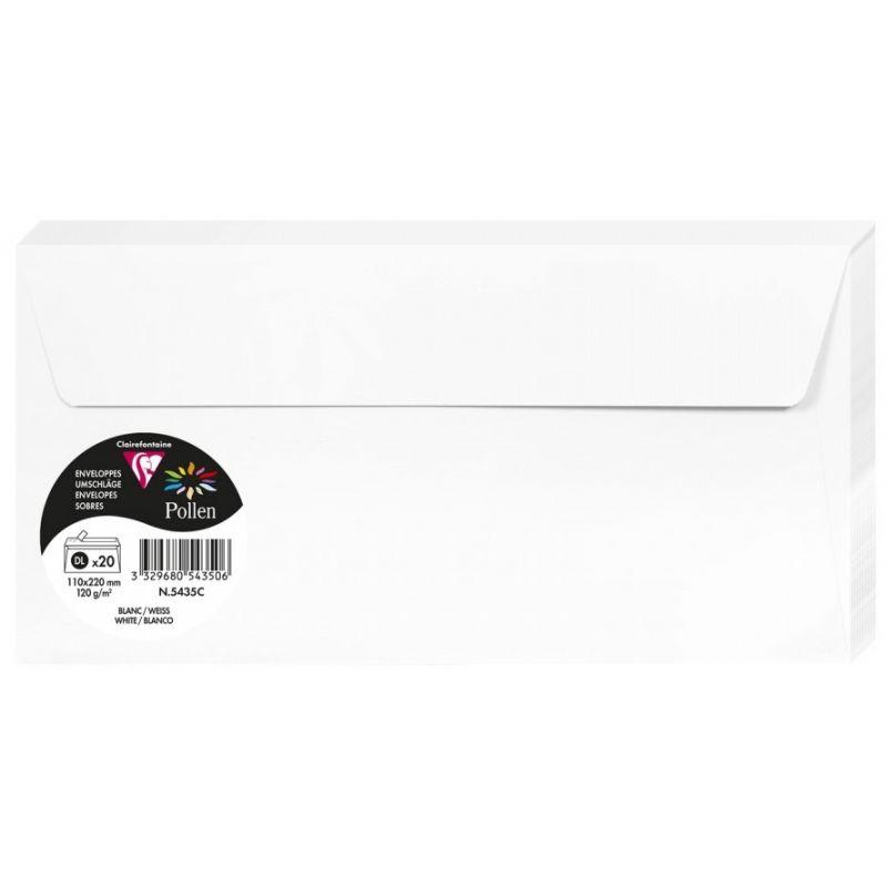 Enveloppes Pollen 110x220 - Blanc