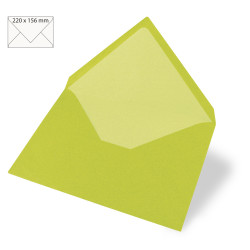 Enveloppes Rayher 110x157 - Vert Tilleul