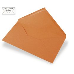Enveloppes Rayher 110x220 - Mandarine
