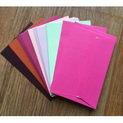 20 Enveloppes 90x140 - Mix de couleurs