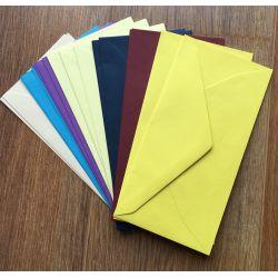 20 Enveloppes 110x220 - Mix de couleurs