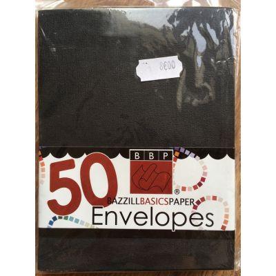 Enveloppes Bazzill 108x140 - Noir