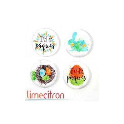 """Badges Lime Citron 1"""" - Pâques"""