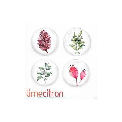 """Badges Lime Citron 1"""" - Fleurs"""