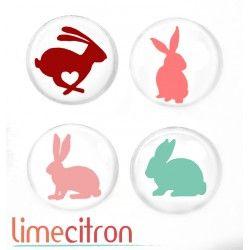"""Badges Lime Citron 1"""" - Lapins"""