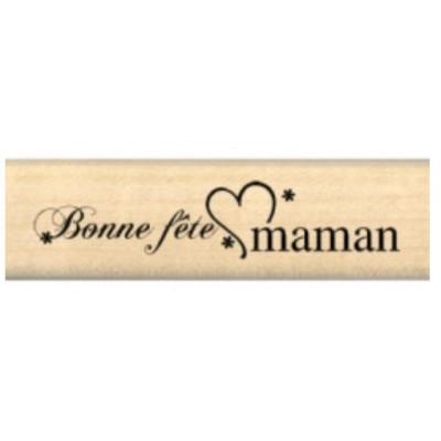 Tampon bois BONNE FÊTE MAMAN