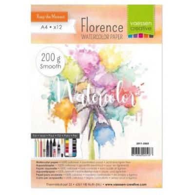 Florence - Papier aquarelle texture 200g - A4 - Vaessen creative
