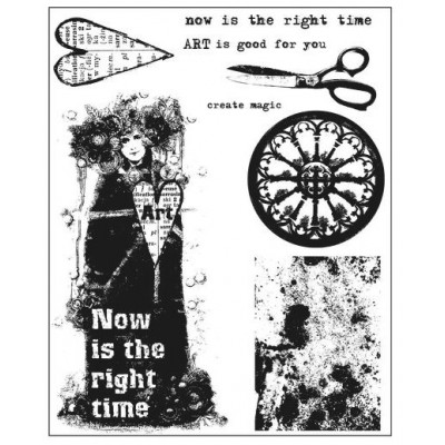 Cling Mounted Stamps - Now Is The Right Time - Prima - Finnabair