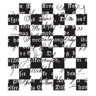 Damier - Prima Marketing - Finnabair clear stamp