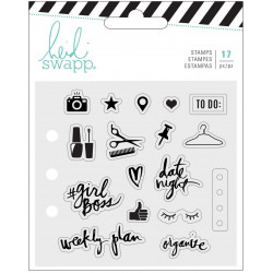 Heidi Swapp memory planner clear stamps x17 everyday - tampon aide mémoire du quotidien