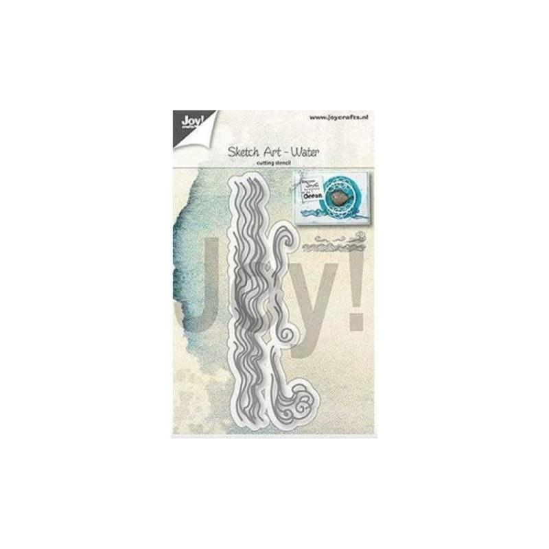 Matrice de découpe - die Sketch Vague - l'art de l'eau - Joy!craft
