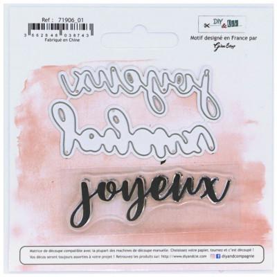 """Dies et tampons """"Joyeux"""" - DIY and Cie"""