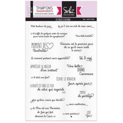 Tampons clear Les jolies citations - SOKAI