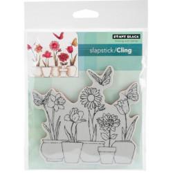Tampon cling - Penny Black - Pots de fleurs