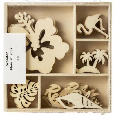 Boîte embellissements bois - Kaisercraft - Détente